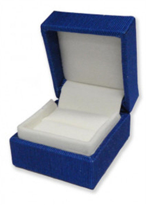 Printed Mini Paper Ring Jewelry Box High Gloss Embossing Logol Durable