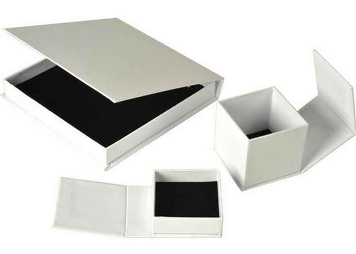 Luxury Ring Paper Jewelry Box Hot Stamp Printing Environmentally Friendly