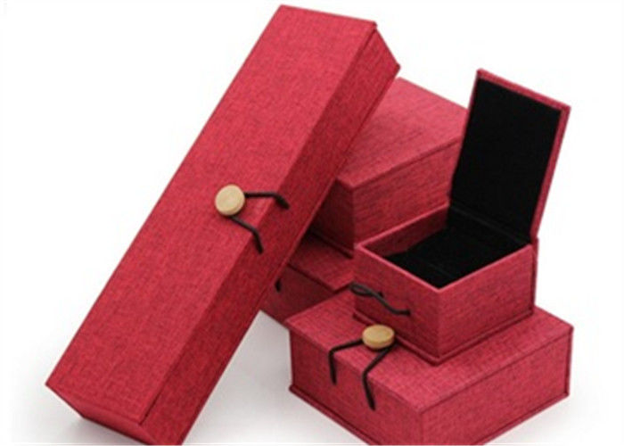 Luxury Necklace Paper Jewelry Box Offset Printing Durable For Presentation Gift