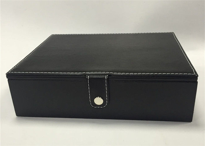 Professional Earring Jewelry Box , High End Black Jewelry Box Eco - Friendly